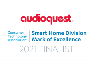 Logo, AudioQuest is Consumer Technology Association Smart Home Division Mark of Excellence Finalist